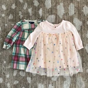 Set of two baby girl gap dresses
